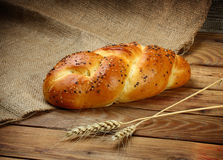 Καυτό ρωσικό ψημένο ψωμί Στοκ φωτογραφία με δικαίωμα ελεύθερης χρήσης
