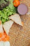 Καυτό σάντουιτς σοκολάτας και τόνου Στοκ Εικόνες