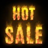 Καυτό σχέδιο πώλησης με την πυρκαγιά επίσης corel σύρετε το διάνυσμα απεικόνισης στοκ εικόνα με δικαίωμα ελεύθερης χρήσης