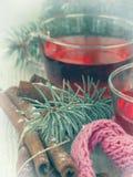 Καυτό τσάι για τις χειμερινές ημέρες στοκ φωτογραφία