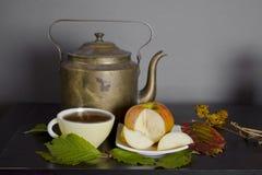 Καυτό τσάι και Apple Στοκ φωτογραφία με δικαίωμα ελεύθερης χρήσης