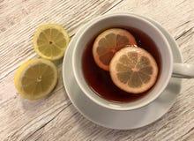 καυτό τσάι λεμονιών στοκ εικόνα με δικαίωμα ελεύθερης χρήσης