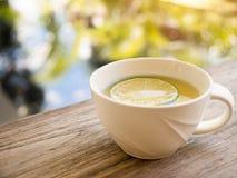 Καυτό τσάι μελιού λεμονιών Στοκ Εικόνες