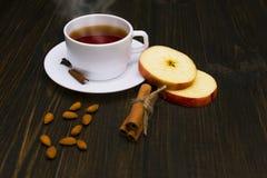 Καυτό τσάι με την κανέλα και το μήλο Στοκ φωτογραφίες με δικαίωμα ελεύθερης χρήσης