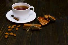 Καυτό τσάι με την κανέλα Στοκ Εικόνες