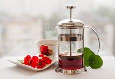 Καυτό τσάι στο κρύο καιρό Στοκ Φωτογραφία