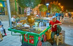 Καυτό τσάι το βράδυ Τεχεράνη Στοκ Εικόνα