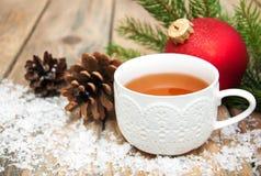 Καυτό τσάι Χριστουγέννων Στοκ φωτογραφία με δικαίωμα ελεύθερης χρήσης