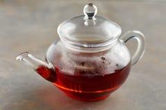 Καυτό τσάι teapot Στοκ εικόνες με δικαίωμα ελεύθερης χρήσης