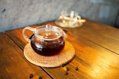 Καυτό τσάι teapot Στοκ εικόνα με δικαίωμα ελεύθερης χρήσης