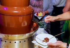 καυτό υγρό σοκολάτας Στοκ Φωτογραφίες