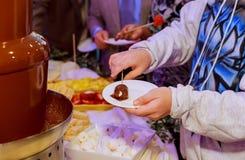καυτό υγρό σοκολάτας Στοκ εικόνα με δικαίωμα ελεύθερης χρήσης
