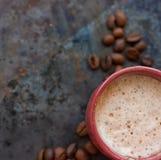 Καυτό cappuccino καφέ latte Στοκ εικόνα με δικαίωμα ελεύθερης χρήσης