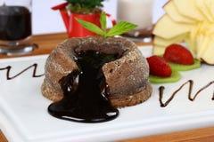 καυτό souffle σοκολάτας Στοκ Εικόνες