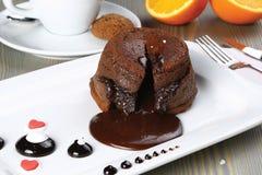 καυτό souffle σοκολάτας Στοκ Φωτογραφίες
