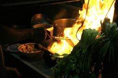 καυτό wok Στοκ εικόνα με δικαίωμα ελεύθερης χρήσης
