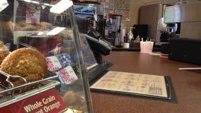 Καφές αγοράς πελατών απόθεμα βίντεο