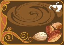 καφές αμυγδάλων απεικόνιση αποθεμάτων