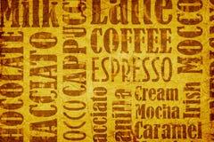 καφές ανασκόπησης παλαιός διανυσματική απεικόνιση