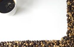 καφές ανασκόπησης το χαρτοφυλάκιό μου για να χαιρετίσει το λευκό Στοκ Εικόνες