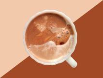 καφές ανασκόπησης το χαρτοφυλάκιό μου για να χαιρετίσει το λευκό Στοκ φωτογραφία με δικαίωμα ελεύθερης χρήσης