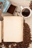 καφές βιβλίων παλαιός Στοκ εικόνα με δικαίωμα ελεύθερης χρήσης