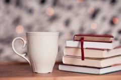 καφές βιβλίων Στοκ Εικόνες