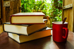 καφές βιβλίων Στοκ Φωτογραφία