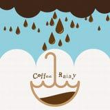 Καφές βροχερός Στοκ φωτογραφίες με δικαίωμα ελεύθερης χρήσης