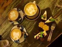 Καφές γατακιών στοκ φωτογραφίες