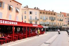 Καφές γαλλικό Riviera Άγιος-Tropez Senequier Στοκ φωτογραφία με δικαίωμα ελεύθερης χρήσης