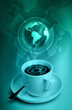 καφές Διαδίκτυο Στοκ Φωτογραφίες