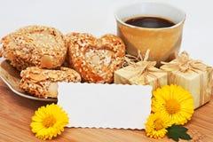 Καφές διακοπών πρωινού Στοκ φωτογραφίες με δικαίωμα ελεύθερης χρήσης