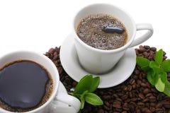 καφές δύο Στοκ εικόνα με δικαίωμα ελεύθερης χρήσης