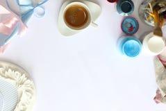 Καφές, εξάρτημα, χρώματα, πλαίσιο και επεξεργασία Στοκ εικόνες με δικαίωμα ελεύθερης χρήσης