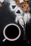 Καφές, ζάχαρη, καραμέλα Στοκ Φωτογραφίες