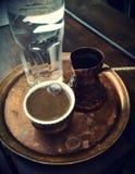 καφές ι αγάπη Χρόνος για τον καφέ Στοκ Εικόνα