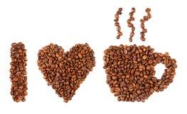 καφές ι αγάπη Στοκ Φωτογραφία