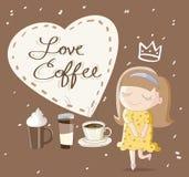 καφές ι αγάπη Στοκ φωτογραφία με δικαίωμα ελεύθερης χρήσης