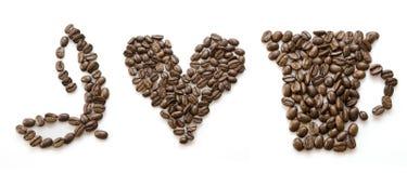 καφές ι αγάπη Στοκ εικόνες με δικαίωμα ελεύθερης χρήσης