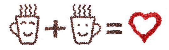 καφές ι αγάπη Στοκ Εικόνα