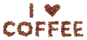 καφές ι αγάπη Στοκ φωτογραφίες με δικαίωμα ελεύθερης χρήσης