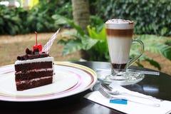 Καφές & κέικ Teatime στοκ φωτογραφίες με δικαίωμα ελεύθερης χρήσης