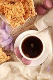 Καφές και γλυκά στοκ εικόνα