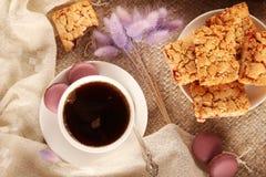 Καφές και γλυκά στοκ εικόνες