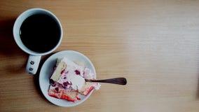 Καφές και κέικ Στοκ Φωτογραφία