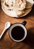 Καφές και κατασκευαστής Espresso στο εκλεκτής ποιότητας υπόβαθρο & x28 καφές στοκ φωτογραφία με δικαίωμα ελεύθερης χρήσης