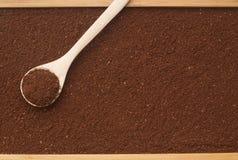 Καφές και κουτάλι Στοκ εικόνες με δικαίωμα ελεύθερης χρήσης