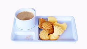 Καφές και μπισκότα στοκ εικόνα