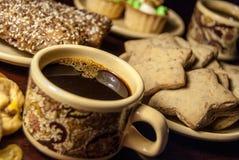 Καφές και μπισκότα Στοκ Φωτογραφίες